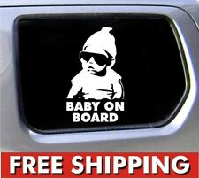 New Cool Baby on Board Vinyl Car Sticker Decal Sign Window Safe