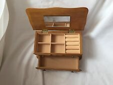 Mele Wooden Chest Jewellery Box With Mirror And Original Box Unused