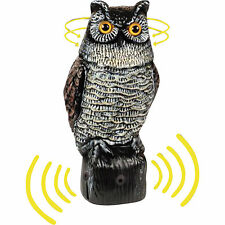 Garden Defense Electronic Bird / Pest Repeller Owl NEW