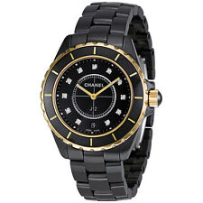 Chanel J12 Quartz Black Ceramic Unisex Watch H2544