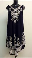 Sundress / Beach Cover Up / Kaftan dress one size fits 20 / 22 Very Slimming