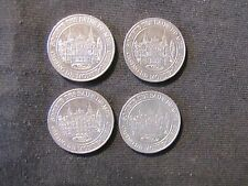Lot of 4 France Monte Carlo Casino Slot Tokens 20 Centimes