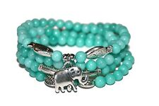 Blue Jade Mala Beads Healing Bracelet/ Necklace Energy Yoga Meditation Jewelry