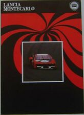 Lancia Beta Montecarlo 2000 1981-83 Original UK Market Foldout Sales Brochure