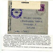 """Corpo Polacco - Air Letter inglese spedita da militare della """"PolishForces113"""""""