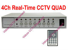 4 CHANNEL 120fps Real-Time CCTV QUAD MULTIPLEXER VIDEO SPLITTER for CCTV CAMERA
