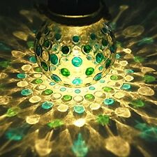 Solar Glass Lights Decorative Outdoor Home Fixtures Hanging Round Multi Colored