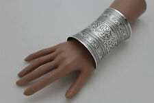 New Women Extra Long Shiny Silver Metal Cuff Bracelet Wrist Fashion Jewelry Sexy