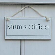 MUM'S OFFICE, ELEGANT SHABBY CHIC SIGN, HOUSEWARMING GIFT