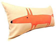 Scion Mr Fox Cream Neutral & Paprika Bolster Cushion Cover 24'' x 12''
