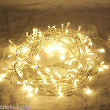 BRIGHTLIGHTZ 10 METRE 100 LED FAIRY STRING LIGHTS WARM WHITE CHRISTMAS WEDDING