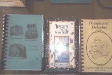 SOUTHERN COMMUNITY FUNDRAISER COOKBOOKS - 3FROM GA, VA, & LA.  SPIRALS, ACCEPT.