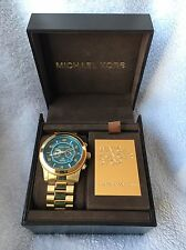 Michael Kors Hunger Stop Oversized 100 Series MK8315 Gold Tone Preowned Watch