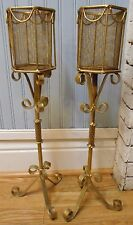 VTG Pair Floor Standing Candle Holders Home Decor Fireplace Dining Table 23.5""