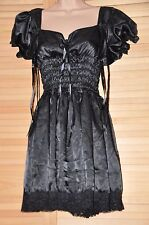 JOL 3 76 Lovely French Maid satin dress, BN, figure hugging, 1XL, black