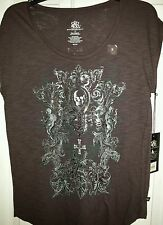 Ladies Rock & republic tshirt size small. Brown with graphic  NWT