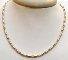 Ethinc Indian Fashion Jewelry Neck Chain Two Tone Gold Silver  Plated 18 inch