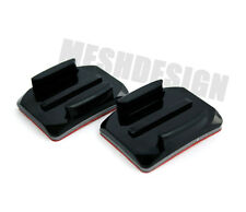 2x Sticky Curved Mount For GoPro Helmet Mount, Stick On Adhesive Mounts Hero HD