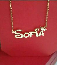 PERSONALIZE CHAIN WITH YOUR NAME HAND CAVERD, FONT IN GOLD COATED