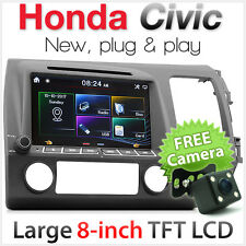 "8"" Car DVD Player For Honda Civic FD1 FD2 Stereo USB MP3 CD Radio Head Unit TU"