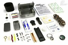 MINI SURVIVAL TIN Camping Bushcraft Kit Outdoor Hiking Hunting Military Scouts