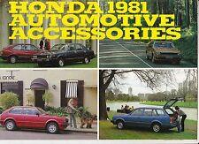 1981 HONDA 2nd Gen CIVIC 1st Gen ACCORD PRELUDE ACCESSORIES Australian Brochure