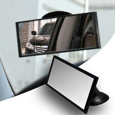 Wide Flat Universal Rear View Mirror Interior Car Adjustable Suction Adhesive