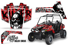 Polaris RZR 170 UTV Side x Side Wrap Graphics Sticker Decal Kit 09-16 CIRCUS RED