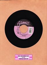 KID ROCK - ONLY GOD KNOWS WHY 45 RPM  ATLANTIC RECORDS  LIMITED  UNPLAYED  2000