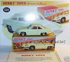 DINKY TOYS ATLAS PANHARD COACH 24 C VERT PALE glaces ouvrantes REF 524 1/43 BOX