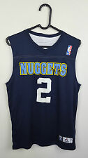 MENS NBA ATHLETIC SPORTS DENVER NUGGETS NO 2 ALEX ENGLISH BASKETBALL JERSEY XS/S