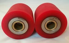 NordicTrack Ski Machine Center Rubber 2 DRIVE ROLLERS Set Clutch Parts Trac Trak