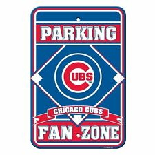 "MLB Chicago Cubs Plastic Fan Zone 12"" x 18"" Parking Sign"