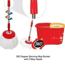 360 gradi Ashley filatura MOP SECCHIO Home Cleaner pulizia con due teste mop