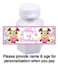 30 Despicable Me Girl Minions Birthday Party Baby Shower Mini Bubble Stickers