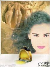 Publicité advertising 1991 Parfum L'Arte di Gucci
