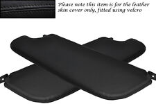 BLACK STITCH FITS ALFA ROMEO SPIDER 105 66-77 2X SUN VISORS LEATHER COVER ONLY