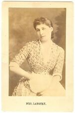 *LILLIE LANGTRY RARE & BEAUTIFUL 1882 ORIGINAL CABINET PHOTO*