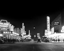 1946 DOWNTOWN LAS VEGAS Glossy 8x10 Photo Casino Print Golden Nugget Poster