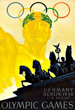 Art Ad Olympic Games  Berlin 1936  Deco   Poster Print