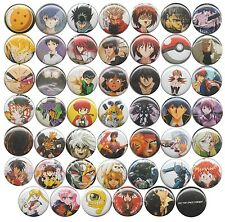 Huge Lot of 48 1990s Anime Themed party favor pins badges buttons retro
