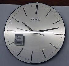 "SEIKO ALUMINIUM WALL CLOCK ""CHAD""  11.5"" WITH QUIET SWEEP QXA630ALH"