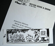 Mother Goose & Grimm Snow White Sleazy comic strip flasher Mike Peters 1986