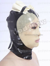 100% latex Rubber Mask Maske Hood Maid Maiden Kostüm