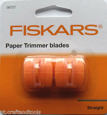 FISKARS PAPER TRIMMER BLADES 9675T euro , triple track,pack of 2 blades