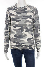J Crew Multi-Color Cotton Camouflage Crew Neck Sweater Size Extra Small $68 New