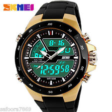 Skmei 50M Water Resistant Auto Date Multifunction Digital Black Men Sports Watch