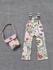 NEO BLYTHE CLOTH GREEN VINTAGE OVERALL FLORAL LONG PANT MATCHED HANDBAG OUTFIT