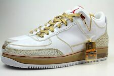 $150 RETAIL AJF 3 PREMIER NIKE JORDAN X AIR FORCE 1 SZ 12 WHITE VARSITY RED GOLD
