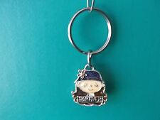 "1.25""in Tall Cute Girl with Hat Forever Key Chain Metal One Sided"